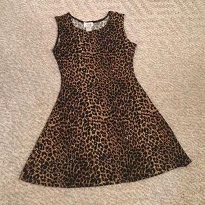 Vintage leopard tank swing dress